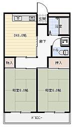 東山本ハイツ[2階]の間取り