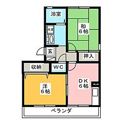 ディアコートLOVE A棟[3階]の間取り