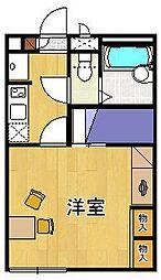 レオパレスグリーンスタジオ伊丹[203号室]の間取り