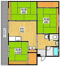 ビレッジハウス今宿[2階]の間取り