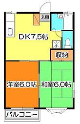 エスポワールMINEGISHI[2階]の間取り