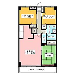 中央マンション安城II[12階]の間取り