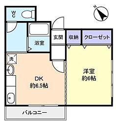 ナカイ第一ビル[4階]の間取り