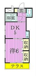 ジュネパレス新松戸第47[102号室]の間取り
