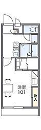 南海高野線 白鷺駅 徒歩14分の賃貸マンション 3階1Kの間取り