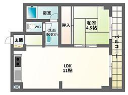 コーポ角田[3階]の間取り