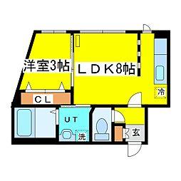 北海道札幌市東区北十条東2丁目の賃貸マンションの間取り