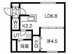エルフ11 2階1LDKの間取り