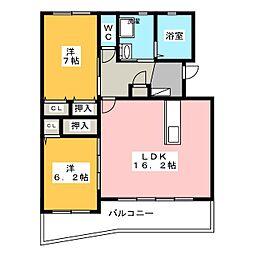 ベルフォレスト[1階]の間取り
