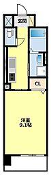 名鉄三河線 土橋駅 徒歩12分の賃貸マンション 6階1Kの間取り