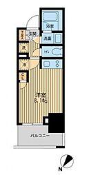 レジディア川崎[4階]の間取り