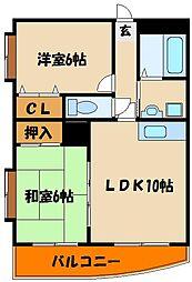シティハイツIII[4階]の間取り