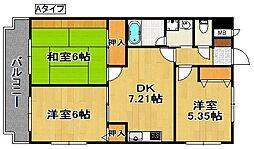 コーポ・エトワール[7階]の間取り