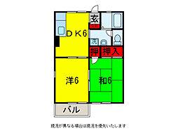 メゾン・ド・ロアールII[2階]の間取り