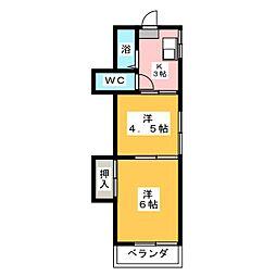 コーポすなみ[2階]の間取り