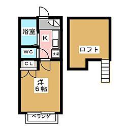 コーポラス・ソーシャル[2階]の間取り