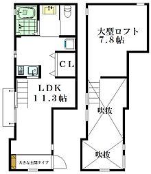 東京メトロ丸ノ内線 新大塚駅 徒歩8分の賃貸アパート 1階1LDKの間取り