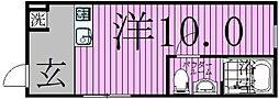 ayase212 1階ワンルームの間取り
