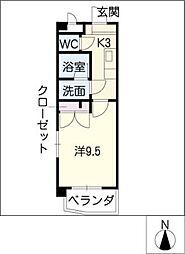 グレイス檜山[6階]の間取り