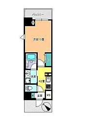 東京メトロ東西線 西葛西駅 徒歩6分の賃貸マンション 2階1Kの間取り
