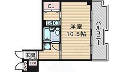 グリーンハウス 1階1Kの間取り