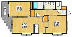 ソラーレ城南[2階]の間取り