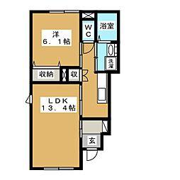 サン・ガーデンヴィラ[1階]の間取り