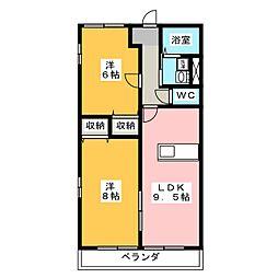 ファミーユ D棟[1階]の間取り