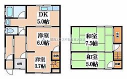 [テラスハウス] 大阪府八尾市荘内町1丁目 の賃貸【/】の間取り