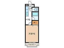 神奈川県相模原市中央区淵野辺本町3丁目の賃貸マンションの間取り