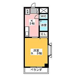 ネオカーサMAKI[3階]の間取り