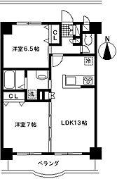 北新横浜Sakura[102号室]の間取り