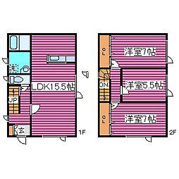 [一戸建] 北海道札幌市北区屯田三条3丁目 の賃貸【/】の間取り
