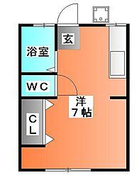 シティハイムアサヒI[1階]の間取り