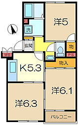 横浜上郷ハイツ[1階]の間取り