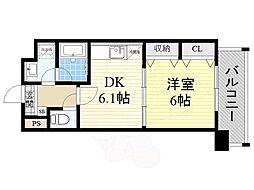 阪急千里線 北千里駅 バス8分 小野原南下車 徒歩3分の賃貸マンション 5階1DKの間取り