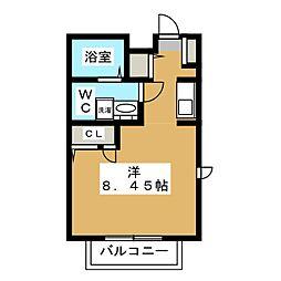 クレセール吉祥寺 2階ワンルームの間取り