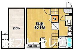 パサージュ諸岡[2階]の間取り