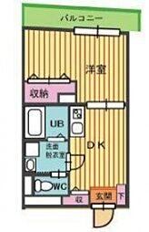 桜山ハイツ[202号室号室]の間取り