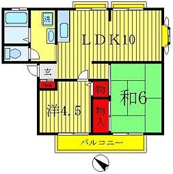 グレーハイツ吉林[1階]の間取り
