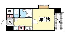リーガル新神戸[2階]の間取り