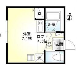 ラボーナ西横浜[2階]の間取り