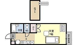 大阪府大阪市福島区野田3丁目の賃貸アパートの間取り