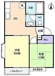 アンハイツ[2階]の間取り