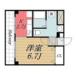 千葉県成田市幸町の賃貸マンションの間取り
