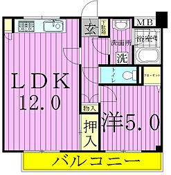 コスモ松戸胡録台[103号室]の間取り