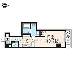 アンシアン六角堺町[203号室]の間取り