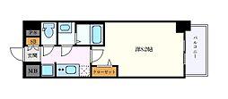 名古屋市営名城線 上前津駅 徒歩7分の賃貸マンション 13階1Kの間取り