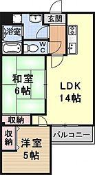 ルアーブル村井[102号室号室]の間取り