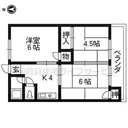 第1御所ノ内マンション[203号室]の間取り